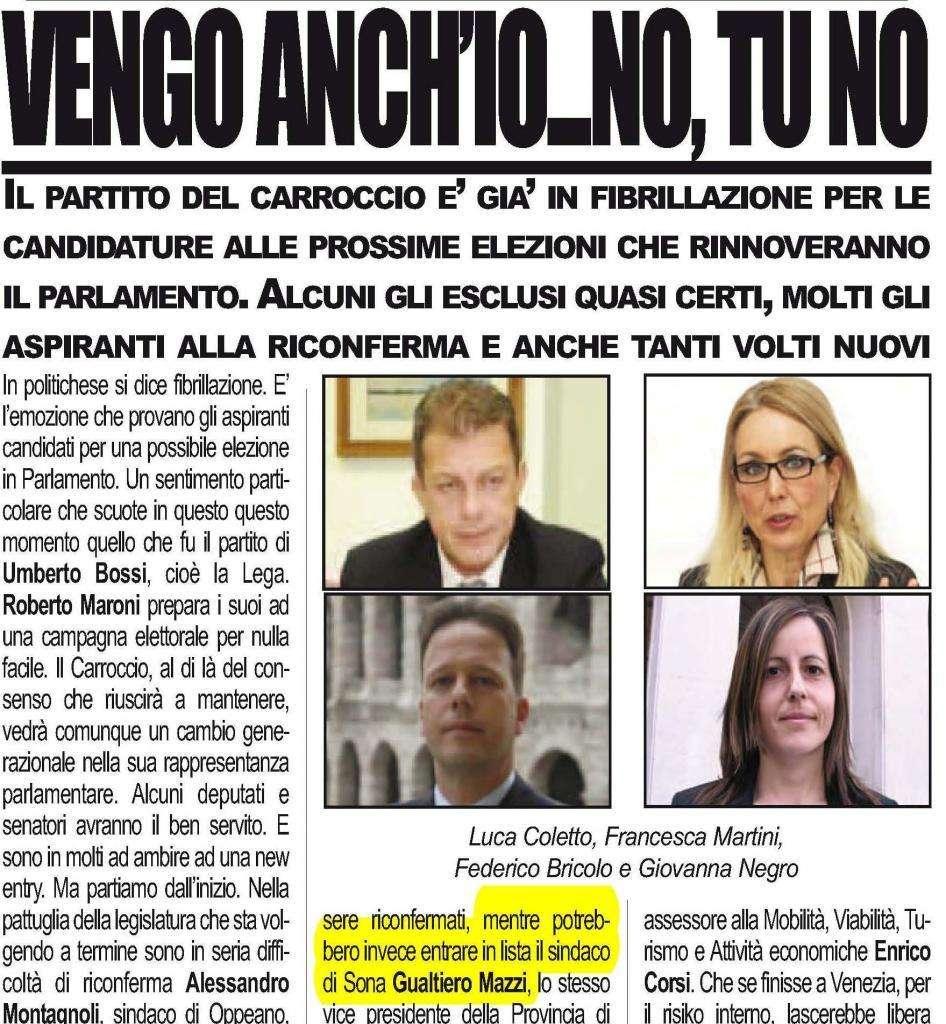 Gualtiero mazzi in parlamento ilbacodaseta for Lista senatori