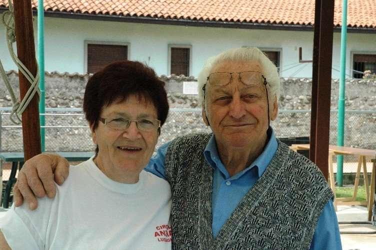 Luigi Castioni durante una festa degli anziani nel maggio 2012