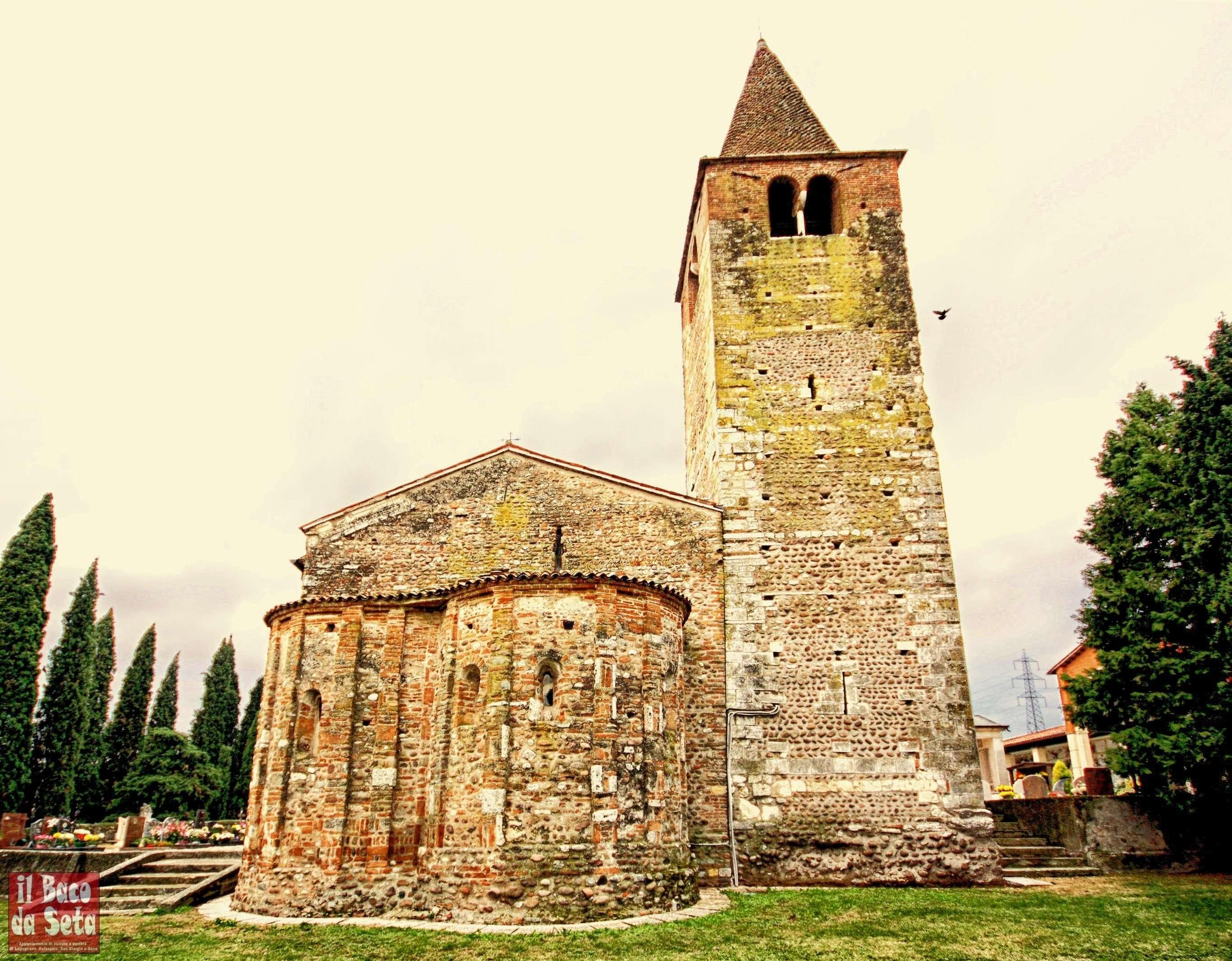 S Giustina lato est con le due absidi e il campanile