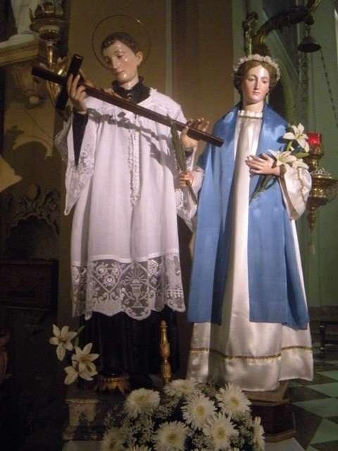 Le statue di S. Luigi e S. Costanza