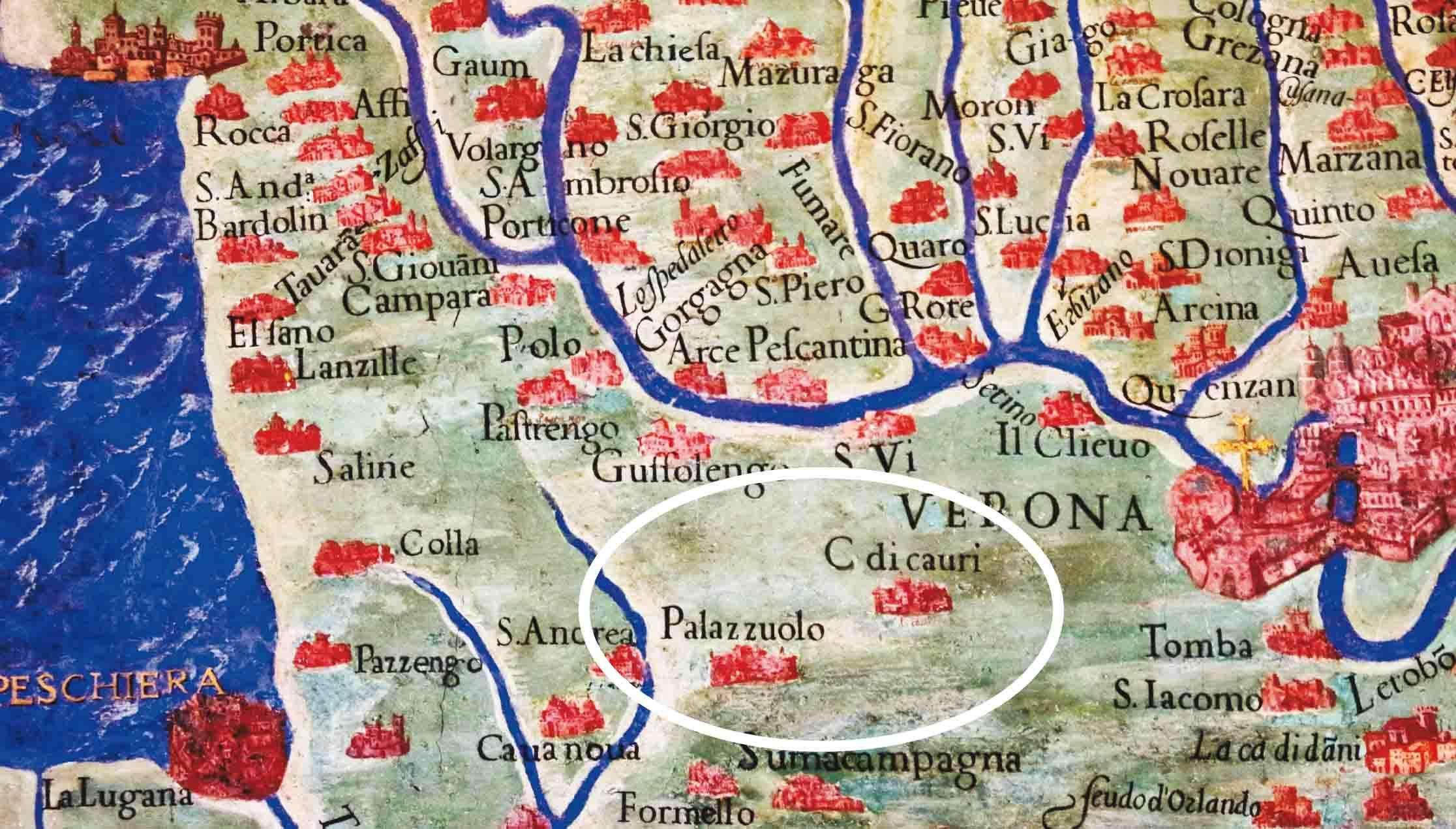 Cartina 1500.Il Nostro Territorio Nelle Carte Geografiche Vaticane Del 1500 Palazzolo E Ca Di Capri Ilbacodaseta
