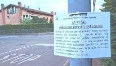 cartello avviso immondizie lugagnano