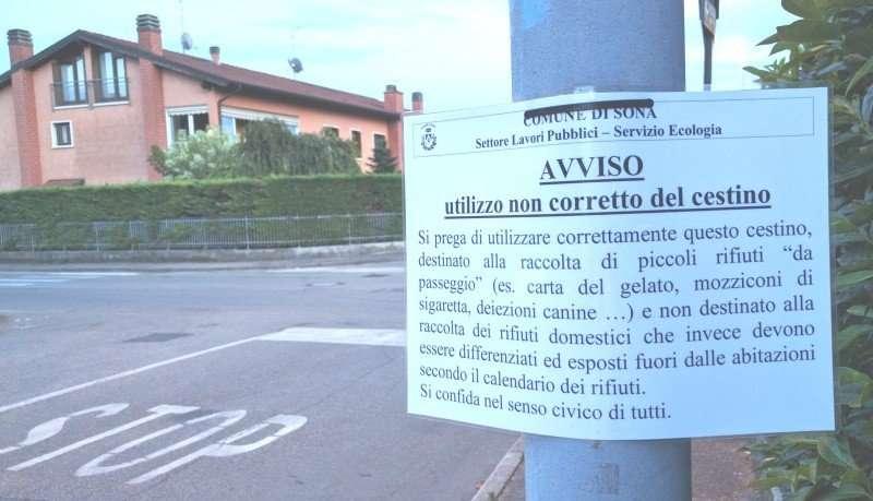 Lugagnano un cartello avvisa pi attenzione nella for Rivista di programmi domestici