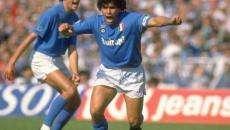 Renica con Maradona negli anni del Napoli
