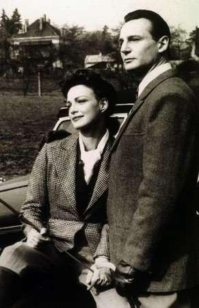 Beatrice Macola con Ralph Fiennes sul set di Schindler's List