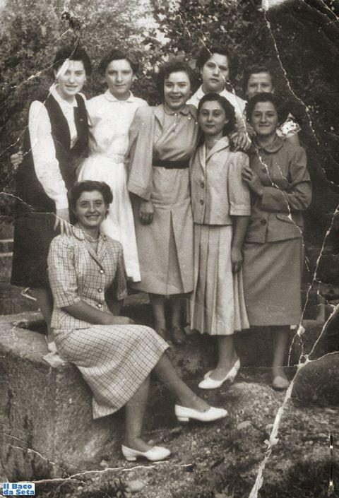 Ragazze di Lugagnano negli anni '50 dello scorso secolo.